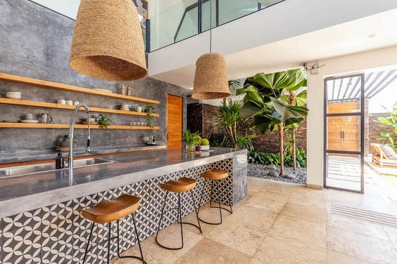 classy tropical kitchen design