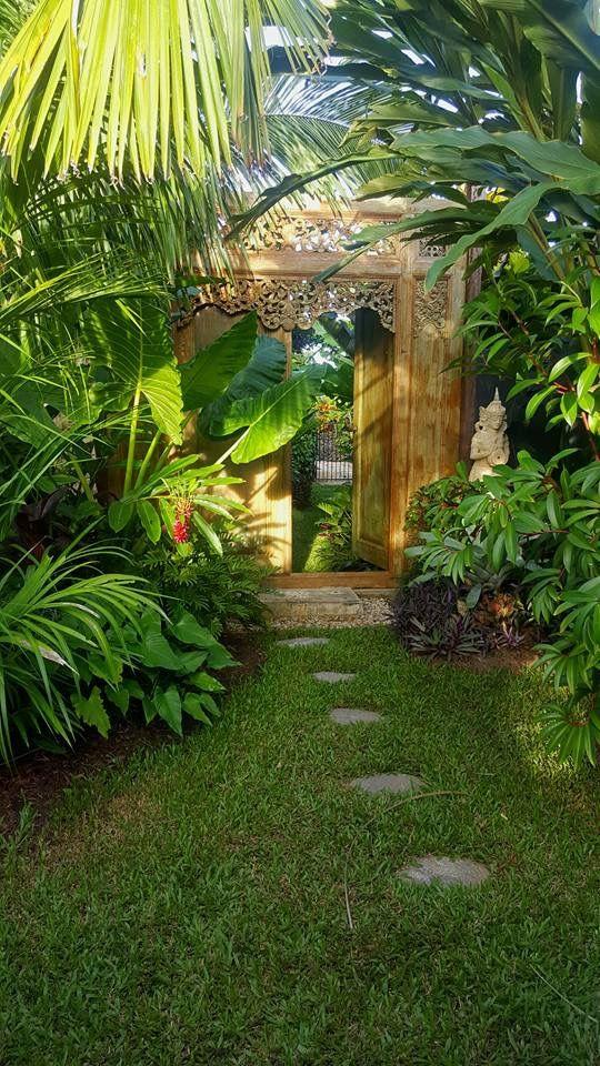 Exotic Balinese tropical garden