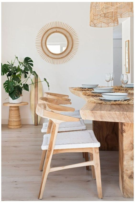 Tropical Dining Room Designs And Tips, Tropical Dining Room Chairs