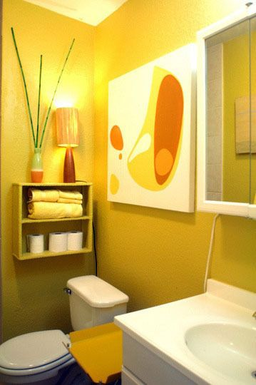 bright mango tropical bathroom design