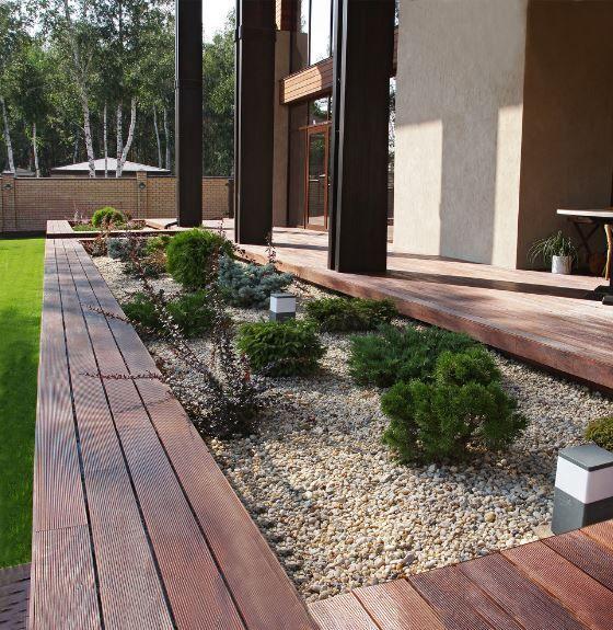 clean line Scandinavian landscaping style