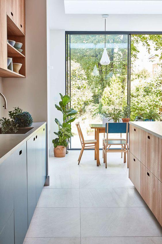 scenic tropical kitchen design idea