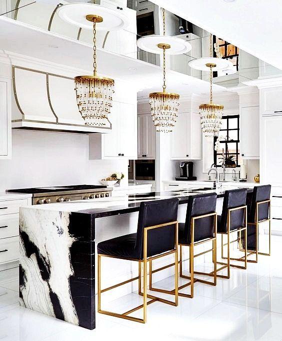 Glam masculine kitchen style
