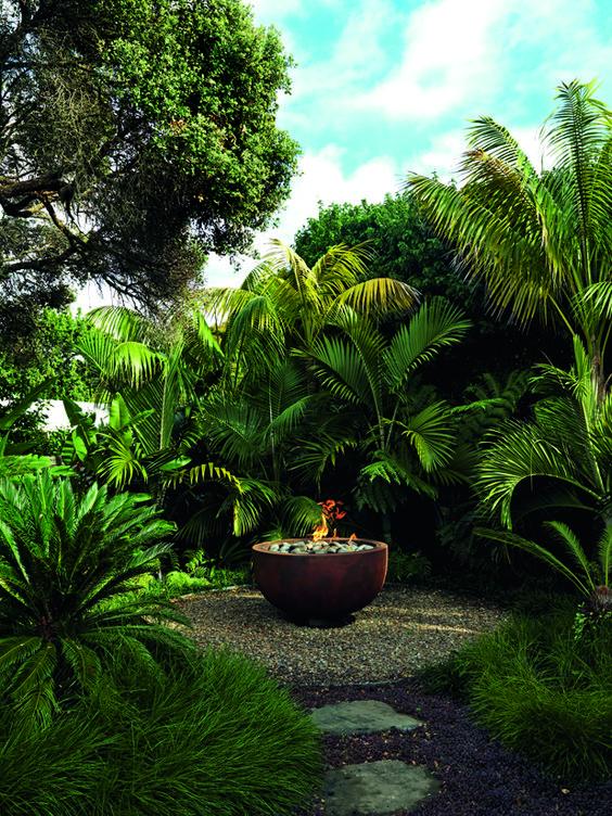 hidden gem tropical garden landscape idea