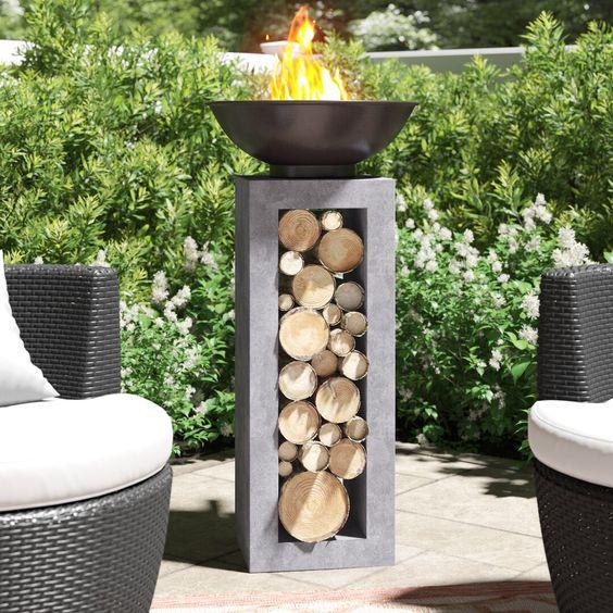 iron fire bowl Scandinavian outdoor furniture