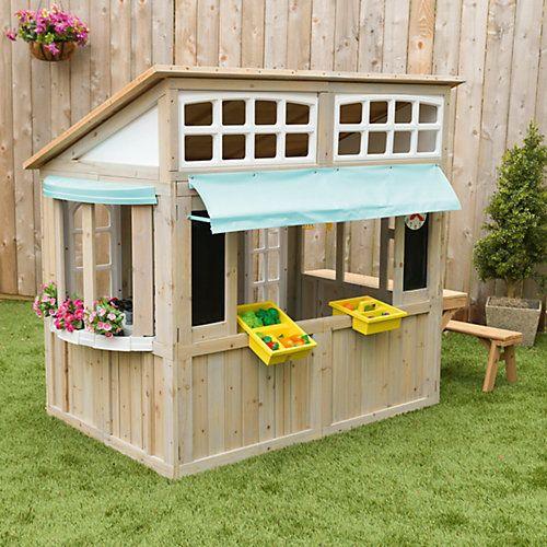 beautiful wooden playhouse