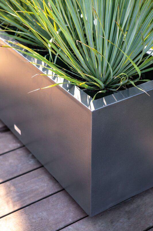 metal planter box for Scandinavian outdoor furniture