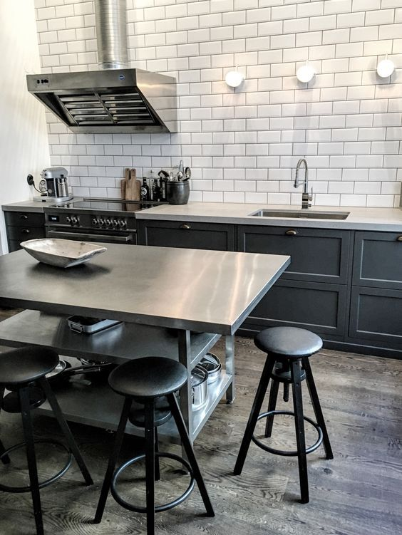 minimalist masculine kitchen style
