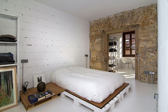 raw palette in masculine bedroom