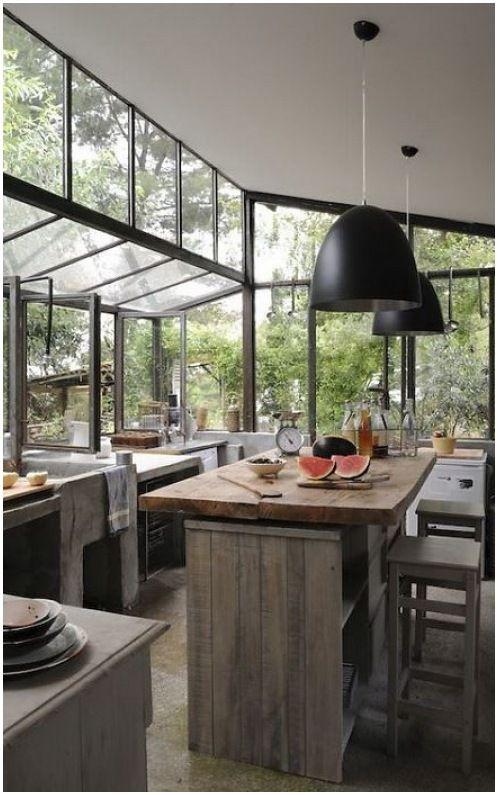 rustic industrial masculine kitchen design