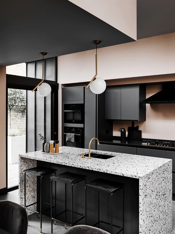 monochrome masculine kitchen style