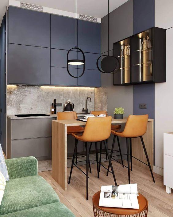 masculine studio apartment