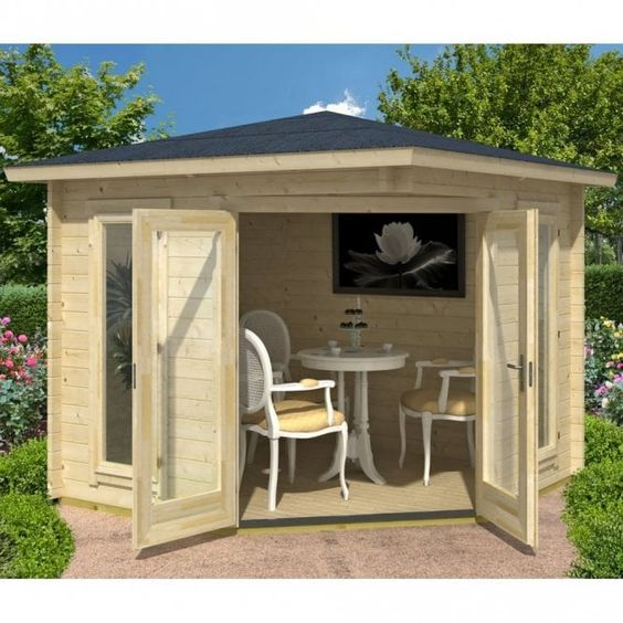 Nordic garden shed to be a dining room