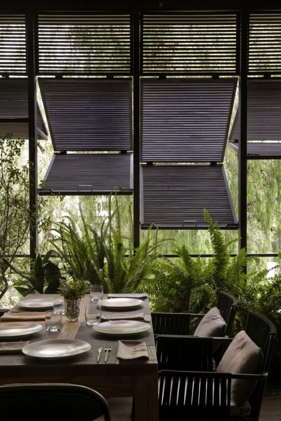 tropical sunshade interior