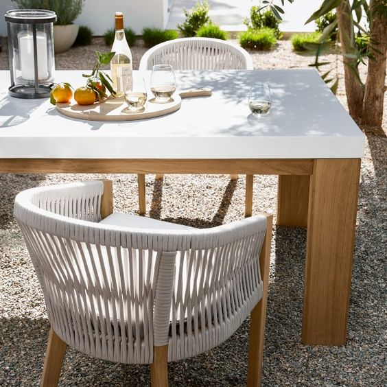 teak dining table in Scandinavian furniture
