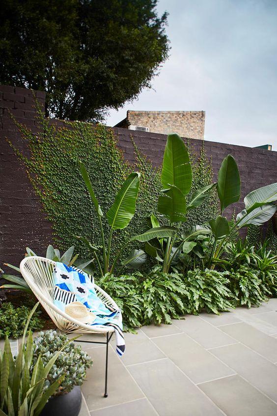 simple tropical terrace design idea