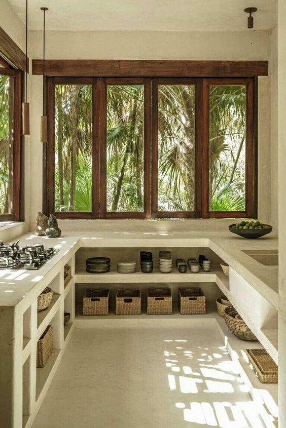 simple tropical kitchen design