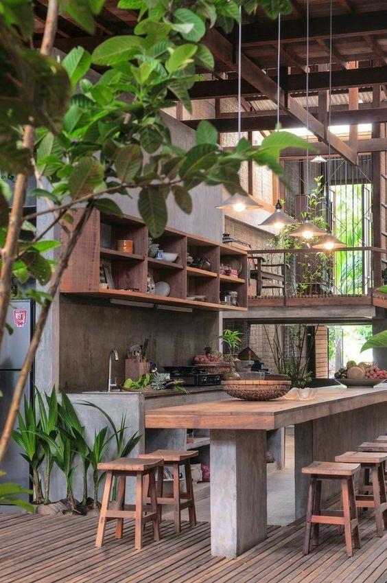 tropical kitchen design open plan