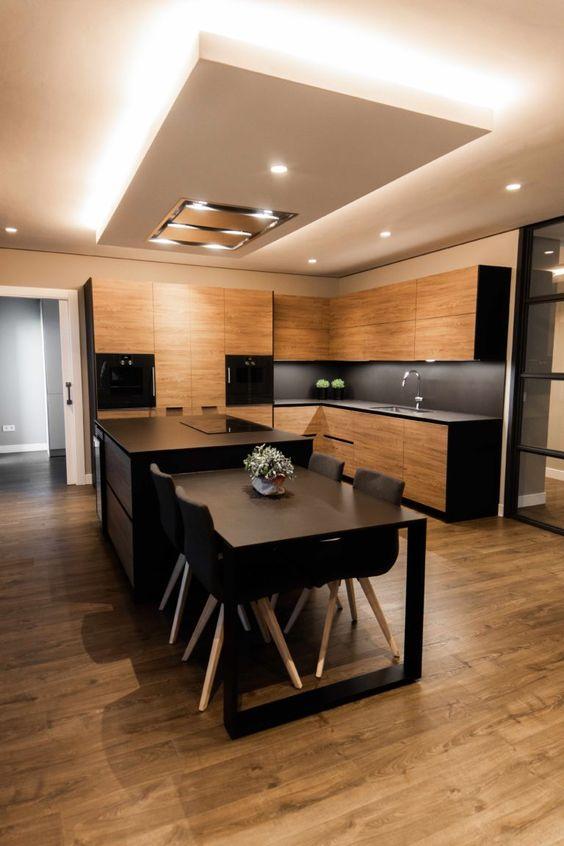 warm masculine kitchen design