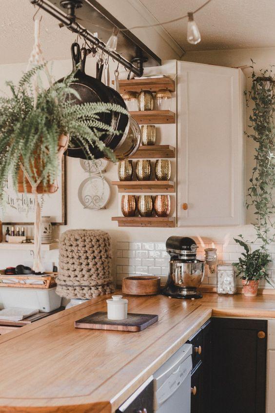 tiny organic kitchen style