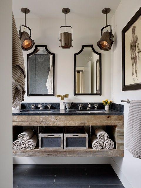 artistic manly bathroom design
