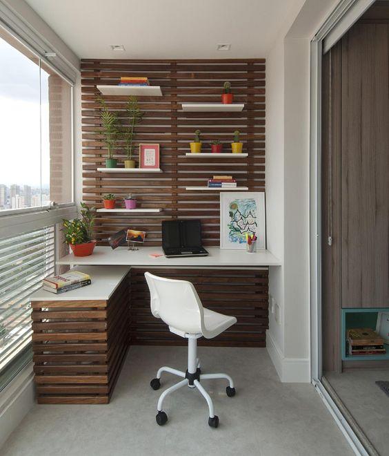 Balcony smart home office design