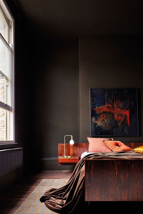 brown masculine bedroom wall colors