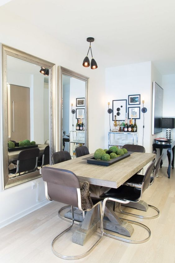 sleek and stylish dining spot bachelor pad studio apartment