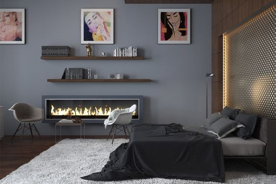gray for masculine bedroom color ideas