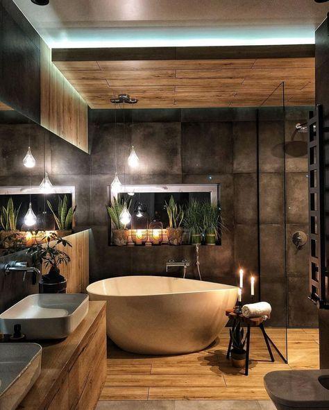manly industrial bathroom design