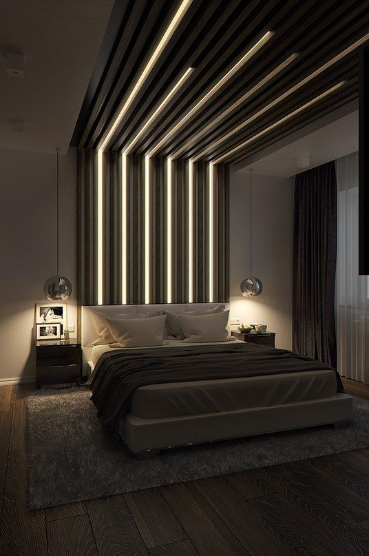 quirky wall light in the masculine bedroom
