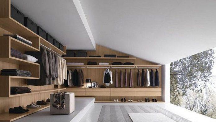 stylish masculine walk in wardrobe design ideas