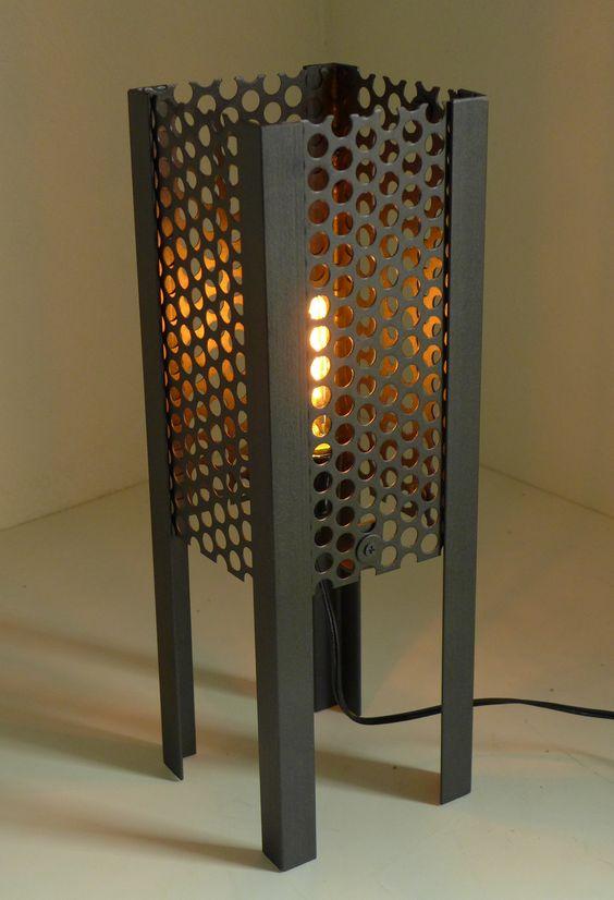 metal table lamp masculine decor