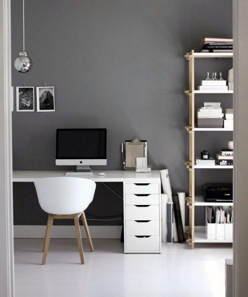 minimalist manly home office design