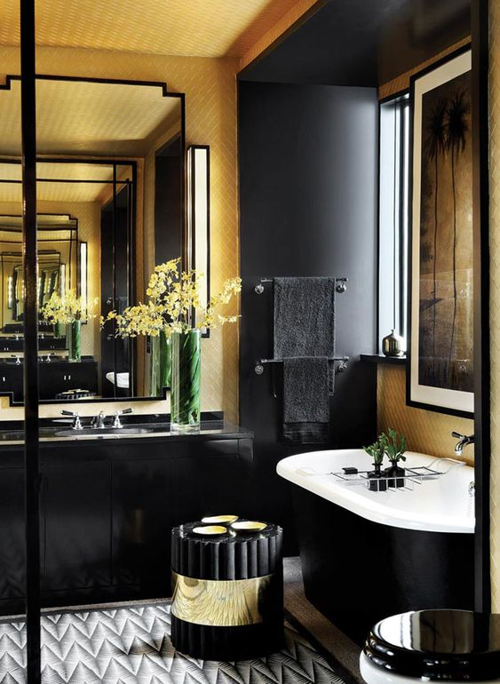 masculine bathroom design with manly mood board palette