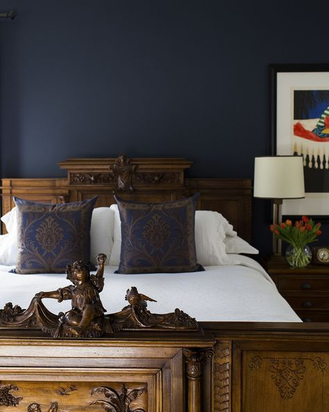 Navy for men's bedroom wall color