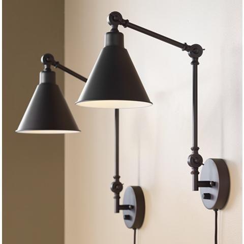 plug-in wall lamp bachelor pad decor idea
