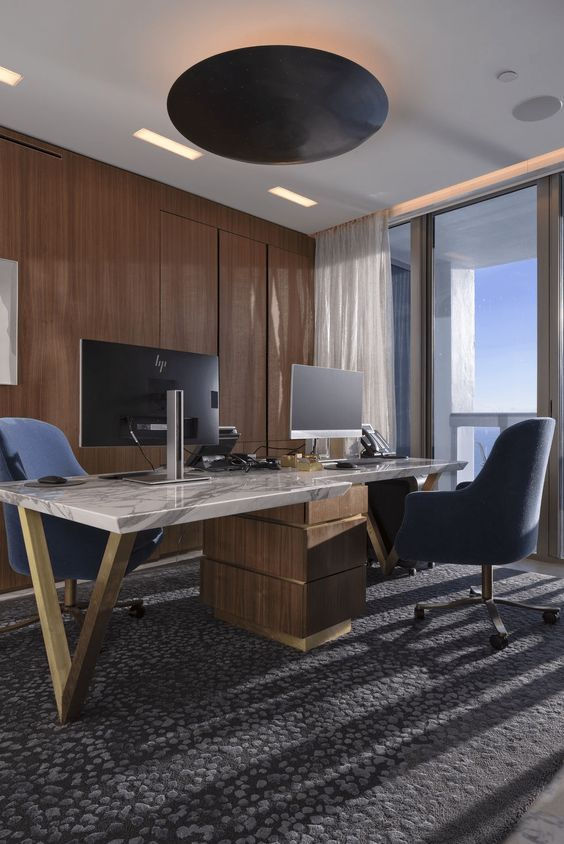stylish masculine home office decor