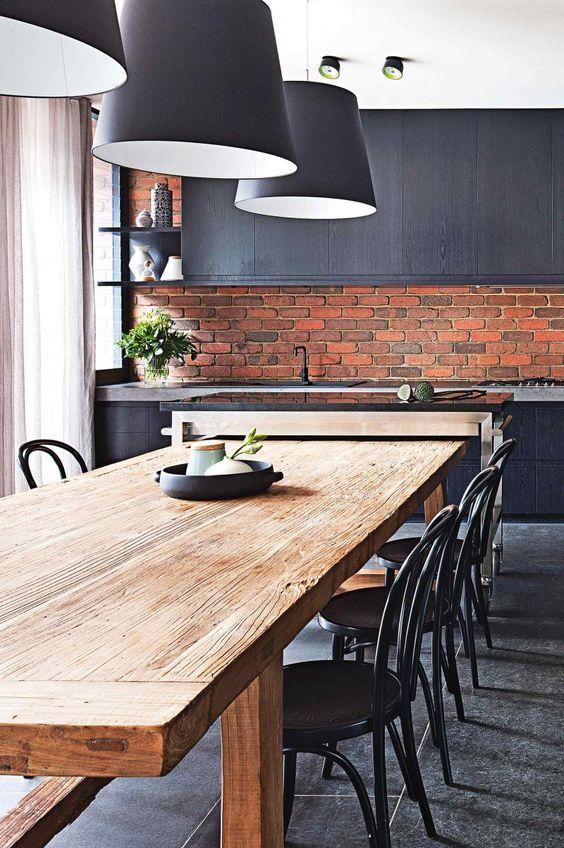 stylish masculine kitchen design