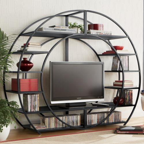 unique metal tv stand for masculine decor