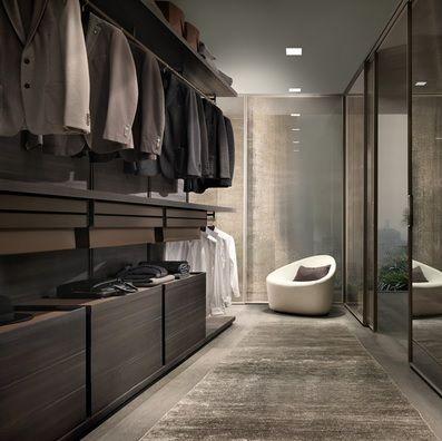 masculine walk-in wardrobe idea