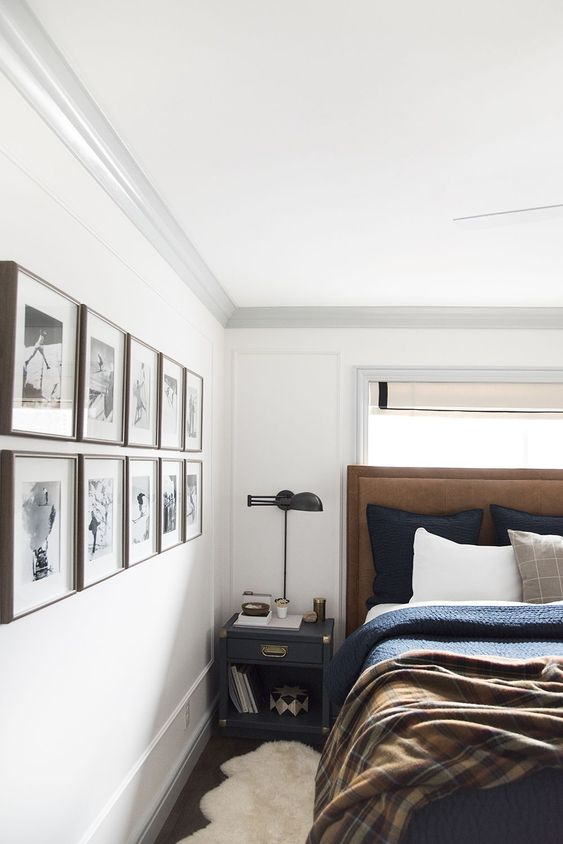 white for masculine bedroom wall colors