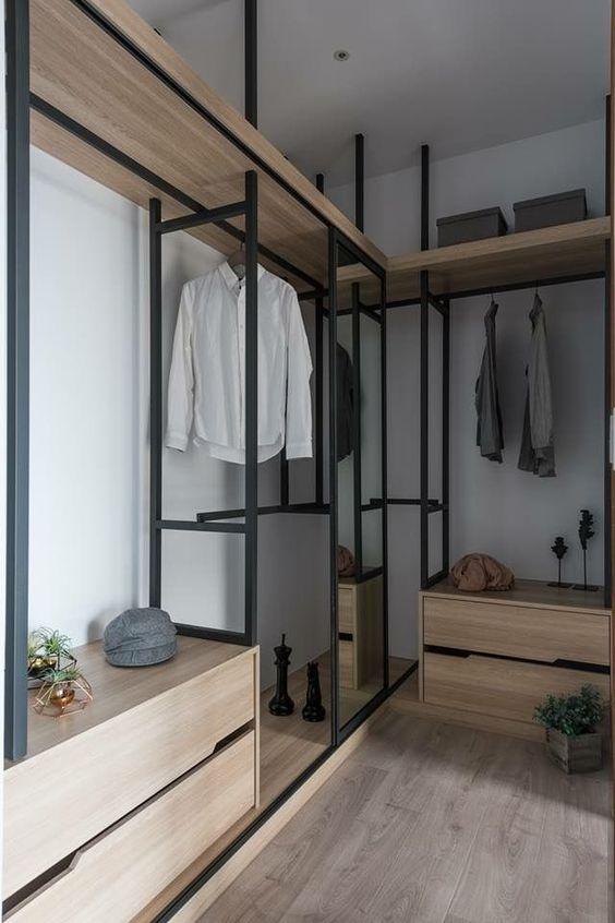 affordable manly walk-in wardrobe design