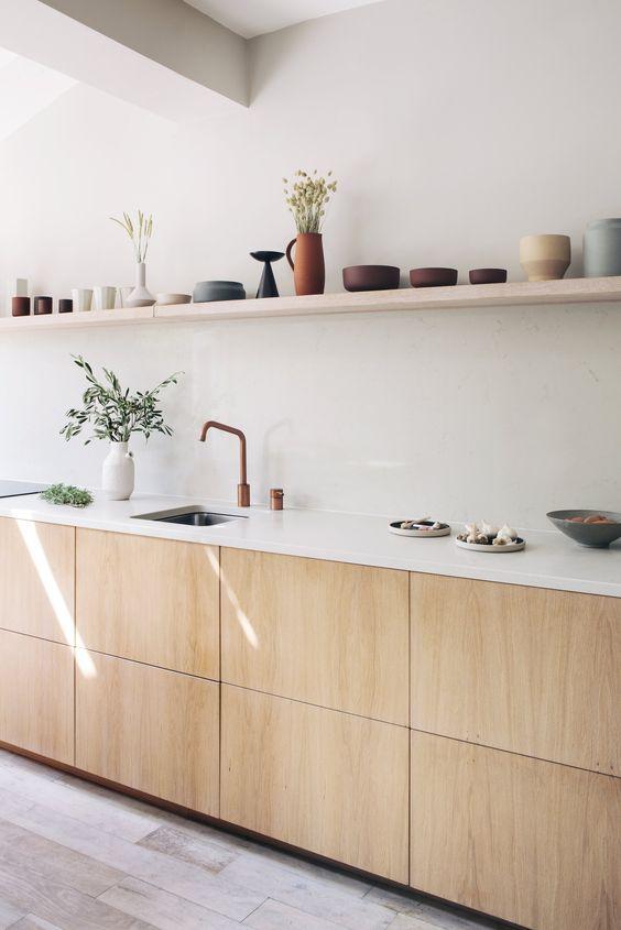 Aesthetic Japandi kitchen decor