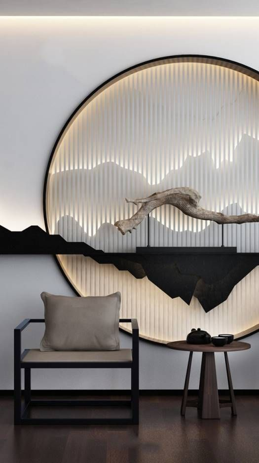 DIY wall art Japandi design