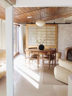 functional small Japandi dining room style