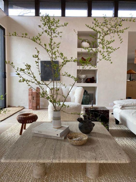 eco-friendly Japandi bedroom decor idea