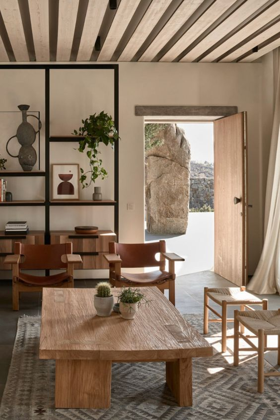 welcoming natural ambiance in Japandi living room decor