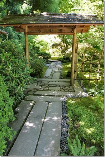 the entrance of Japanese garden style