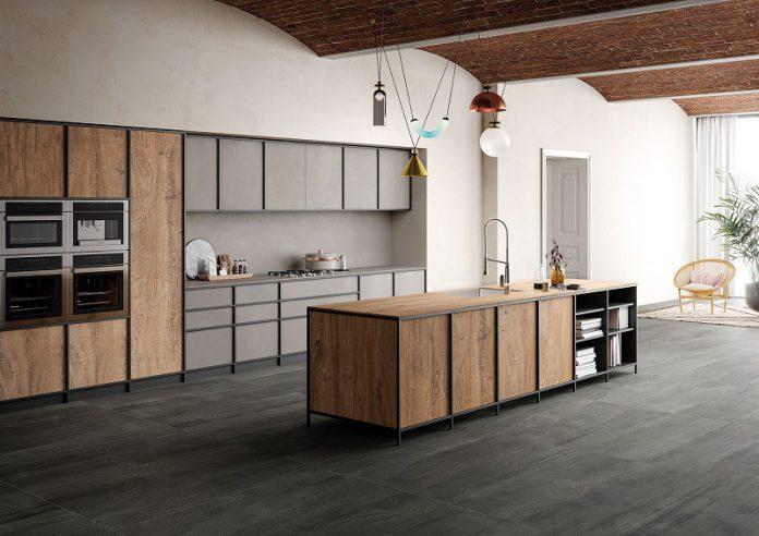 clean minimalist Japandi kitchen design